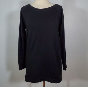 Gap Body Fit Black Oversized Crewneck Sweatshirt